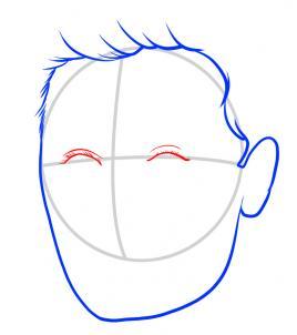 Как нарисовать Зака Эфрона 3