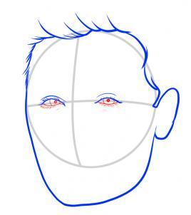 Как нарисовать Зака Эфрона 4