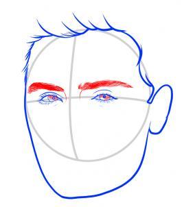 Как нарисовать Зака Эфрона 5