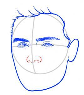 Как нарисовать Зака Эфрона 6