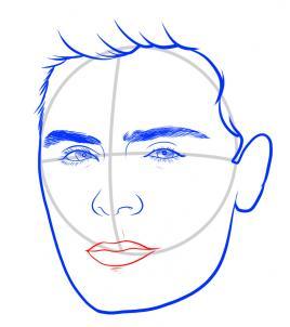 Как нарисовать Зака Эфрона 7
