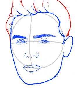 Как нарисовать Зака Эфрона 8