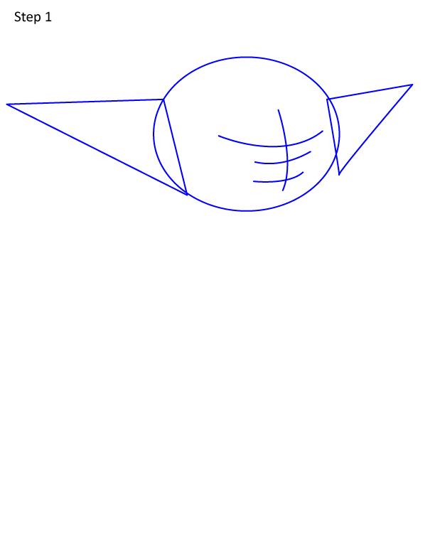 как нарисовать Грогу 1