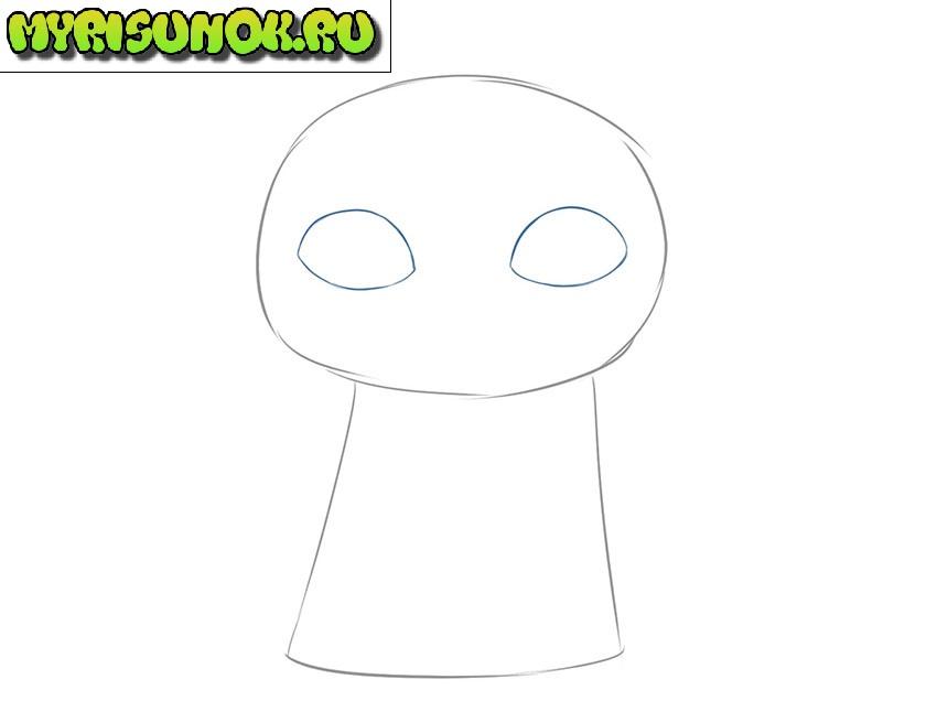 Рисуем малыша Йода 2