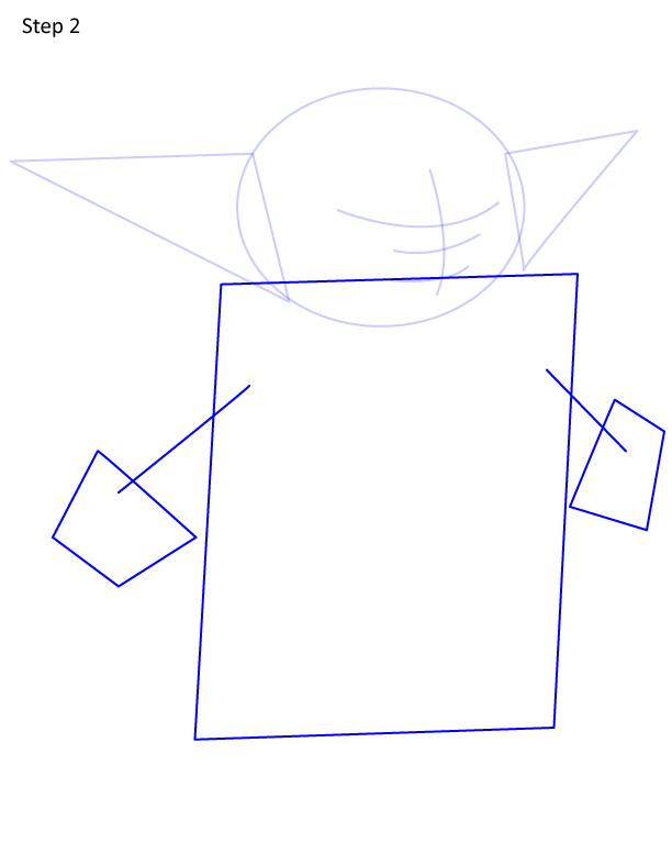 как нарисовать Грогу 2