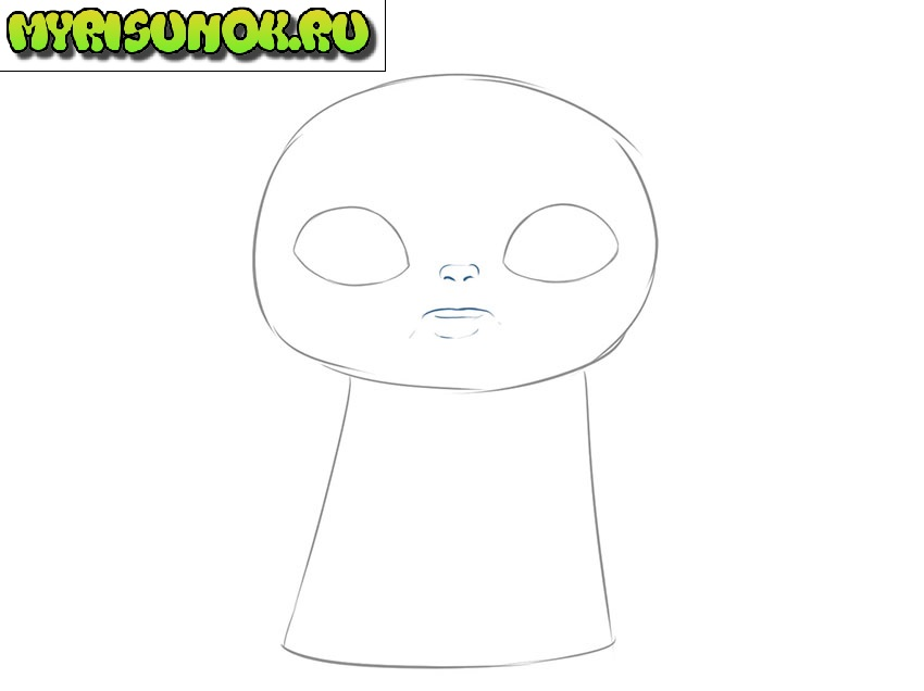 Рисуем малыша Йода 3