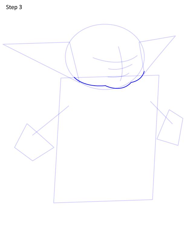 как нарисовать Грогу 3