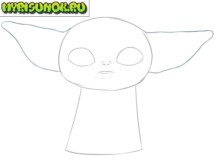 Рисуем малыша Йода 4