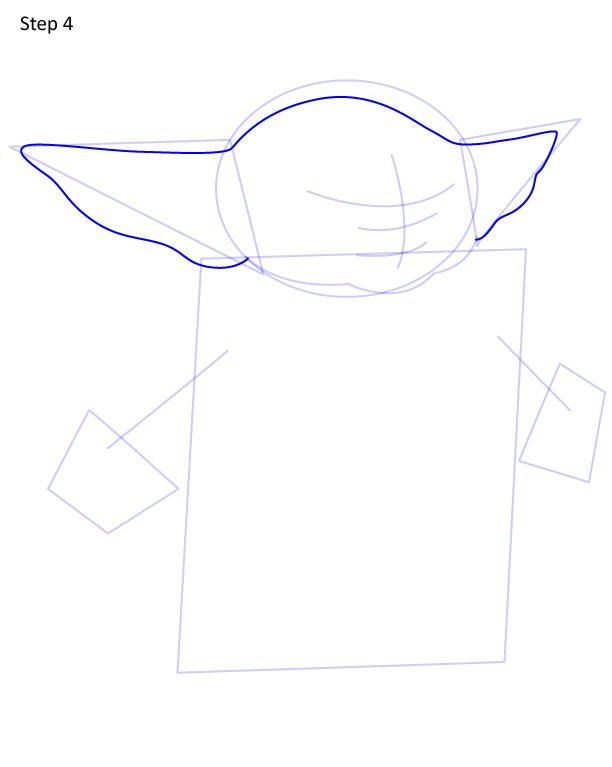 как нарисовать Грогу 4