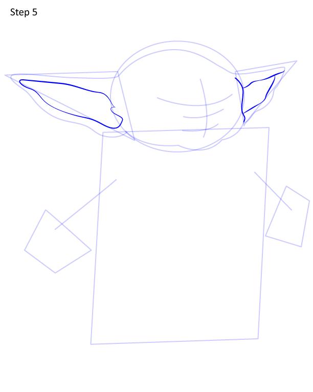 как нарисовать Грогу 5