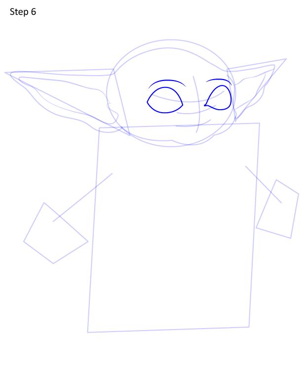 как нарисовать Грогу 6