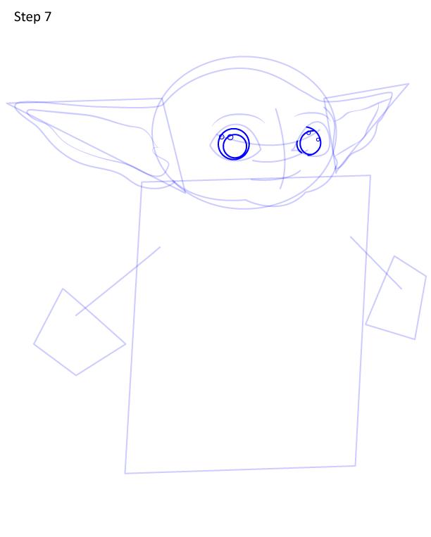 как нарисовать Грогу 7