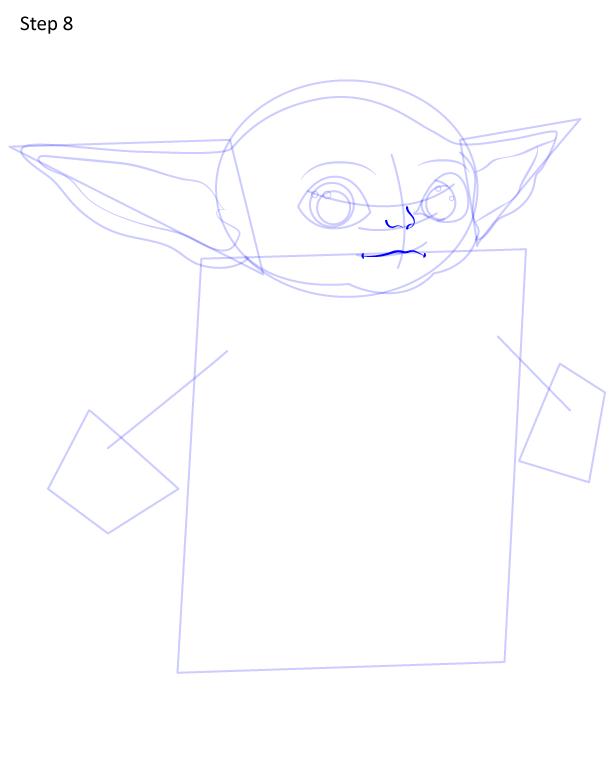 как нарисовать Грогу 8
