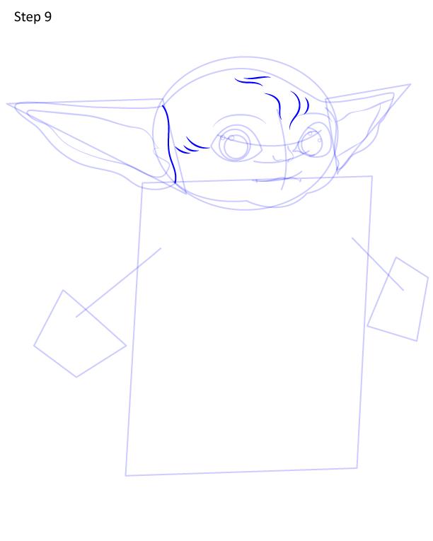 как нарисовать Грогу 9