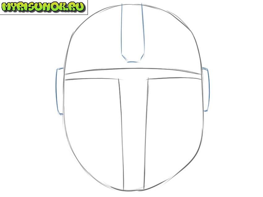 Рисуем шлем Мандалорца 3