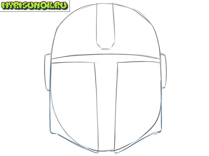 Рисуем шлем Мандалорца 4