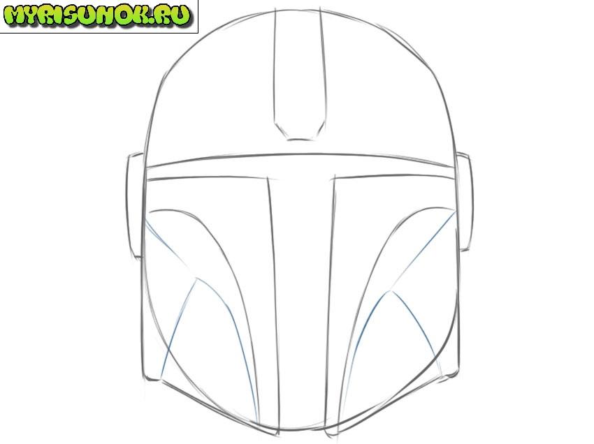 Рисуем шлем Мандалорца 6