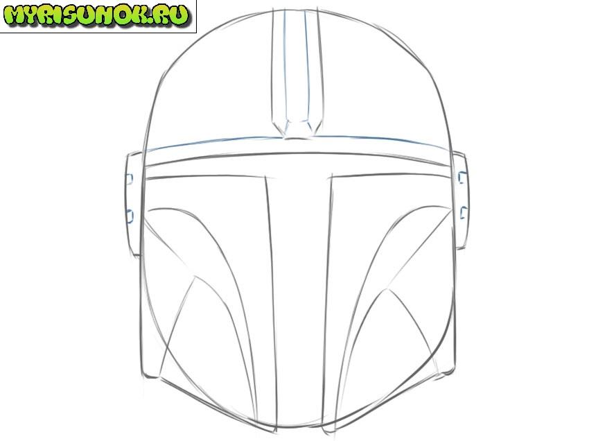 Рисуем шлем Мандалорца 7