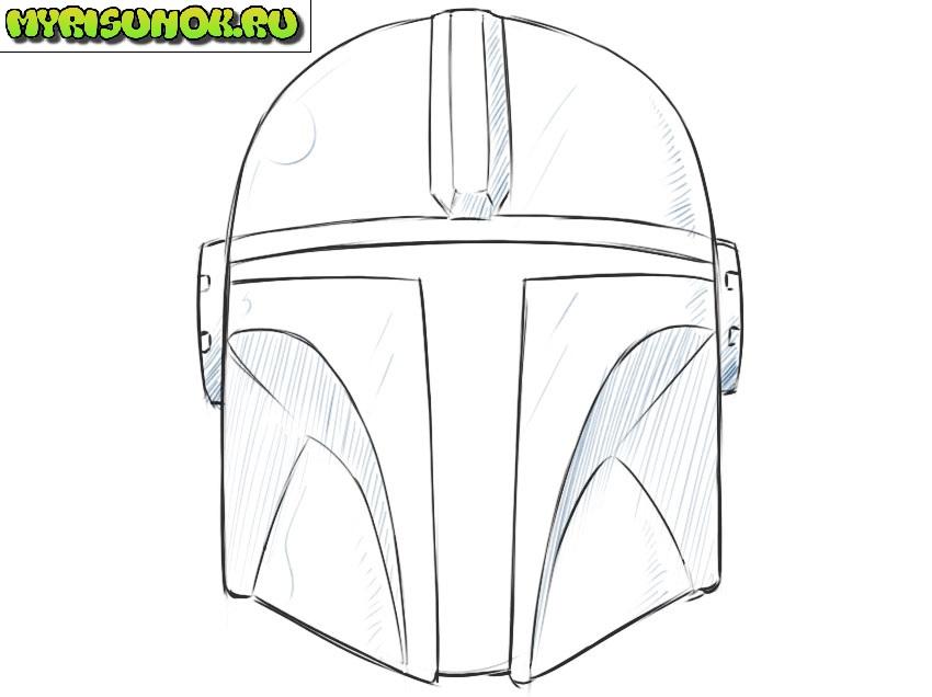 Рисуем шлем Мандалорца 9