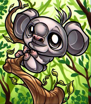 рисуем коалу 0