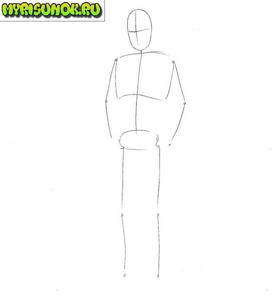 как нарисовать Шерлока из сериала 1