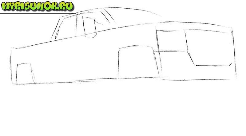 как нарисовать пикап 2