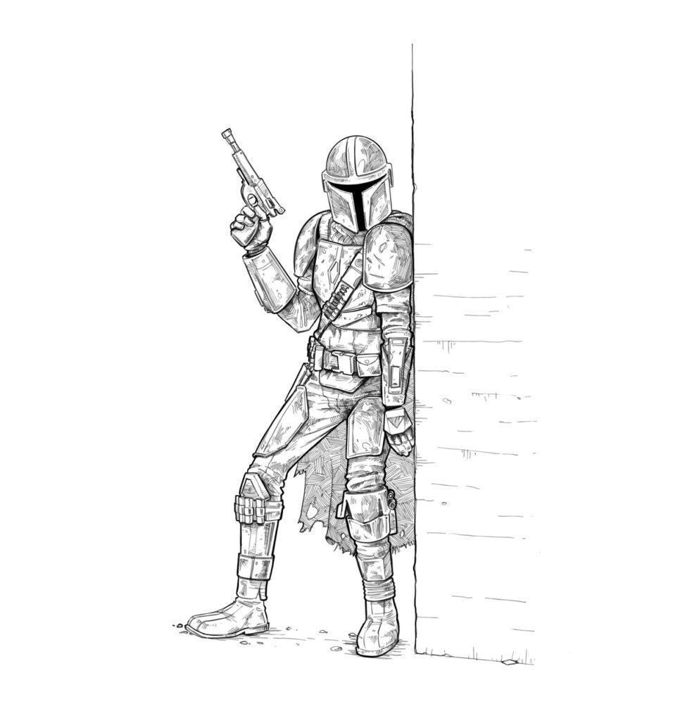 Срисовки Мандалорца 15