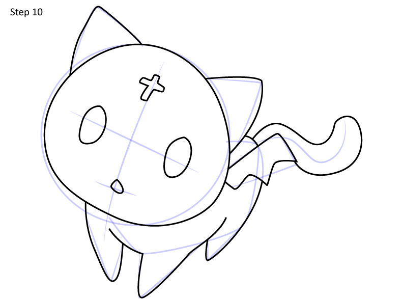 Рисуем кота Чомуске 10