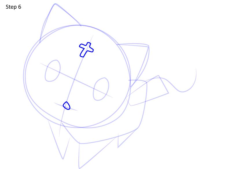 Рисуем кота Чомуске 6