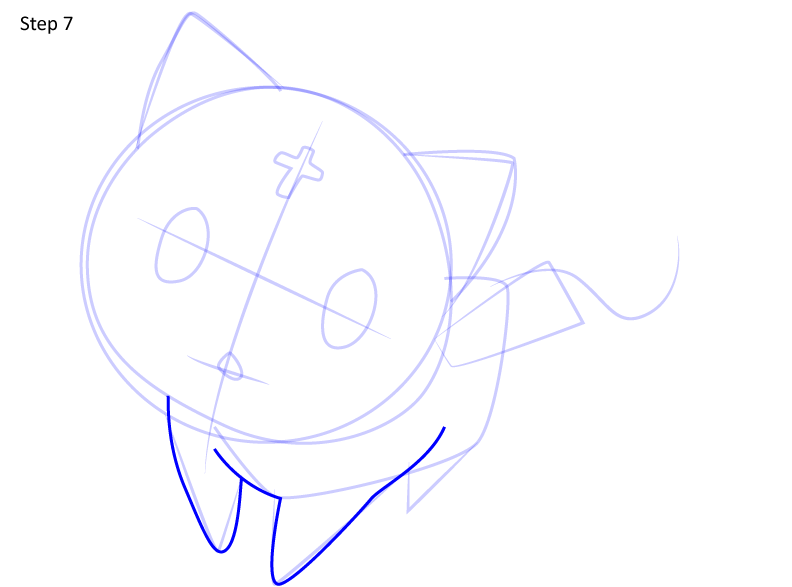 Рисуем кота Чомуске 7