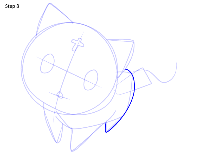 Рисуем кота Чомуске 8