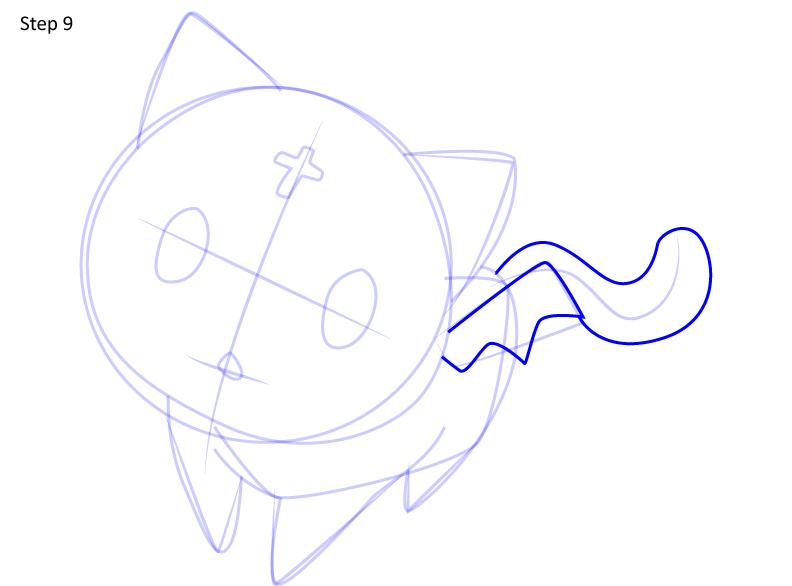 Рисуем кота Чомуске 9