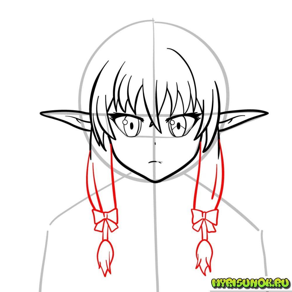 Рисуем эльфийку из Goblin Slayer