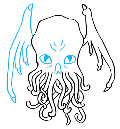 рисуем монстра ктулху 6