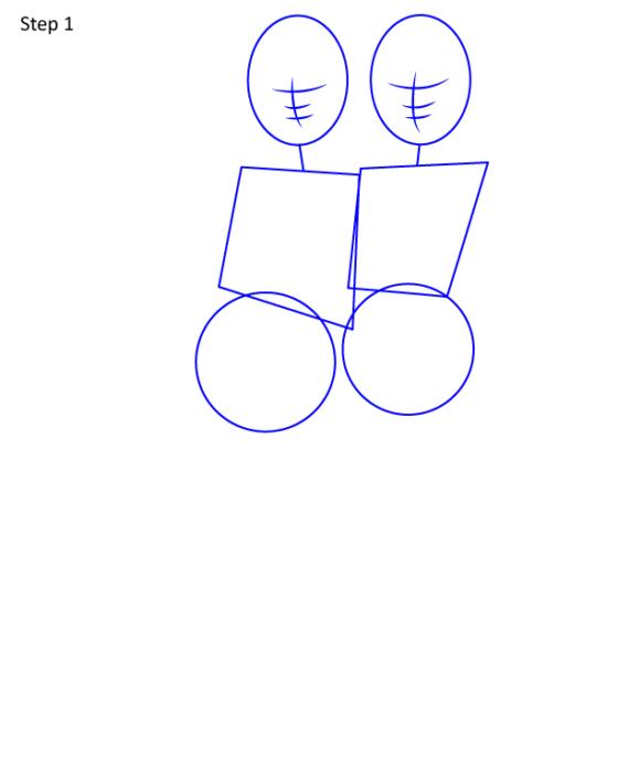 рисуем эльзу и анну вместе 1