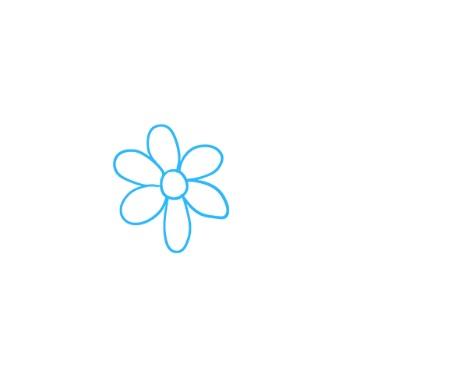как нарисовать букет цветов 1