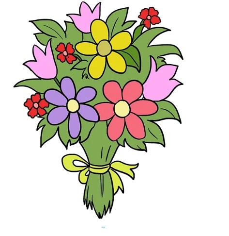 как нарисовать букет цветов 10