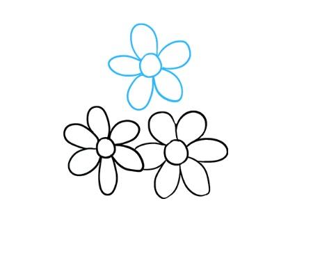 как нарисовать букет цветов 3