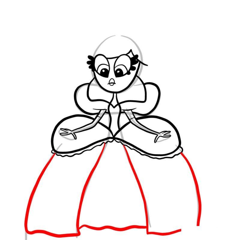 Рисуем принцессу Скромнелию 7