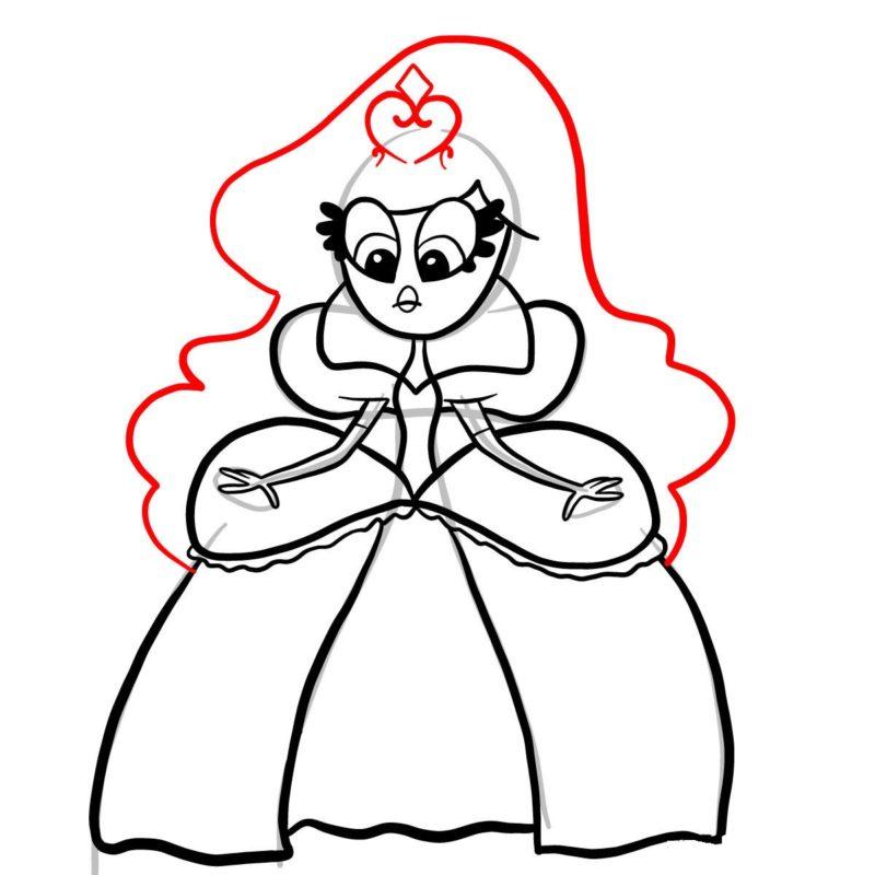 Рисуем принцессу Скромнелию 8