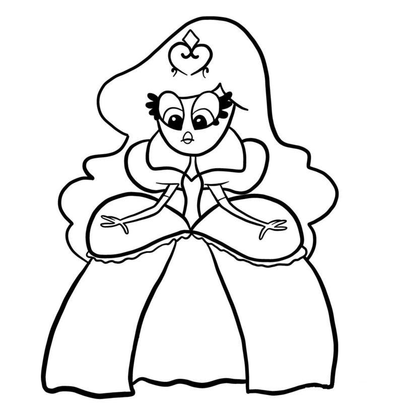Рисуем принцессу Скромнелию 9