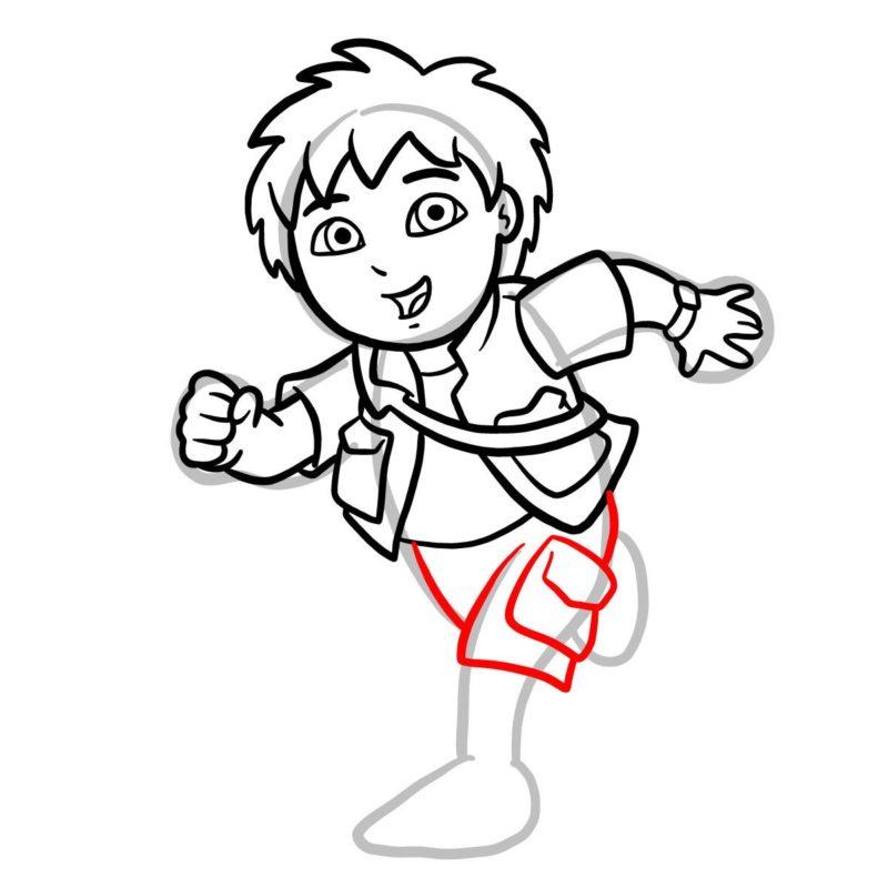 Как нарисовать Диего Го 10