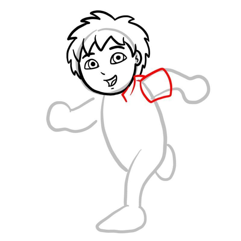 Как нарисовать Диего Го 4