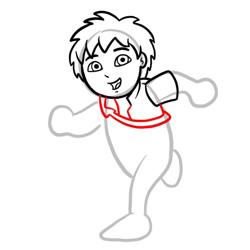 Как нарисовать Диего Го 5