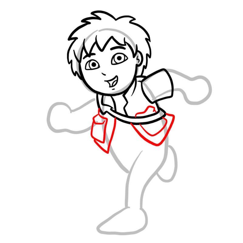 Как нарисовать Диего Го 6