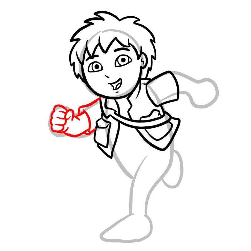 Как нарисовать Диего Го 7