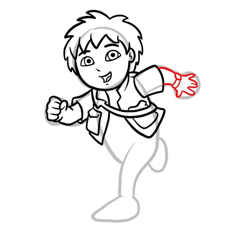 Как нарисовать Диего Го 8