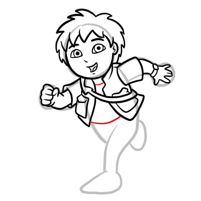 Как нарисовать Диего Го 9