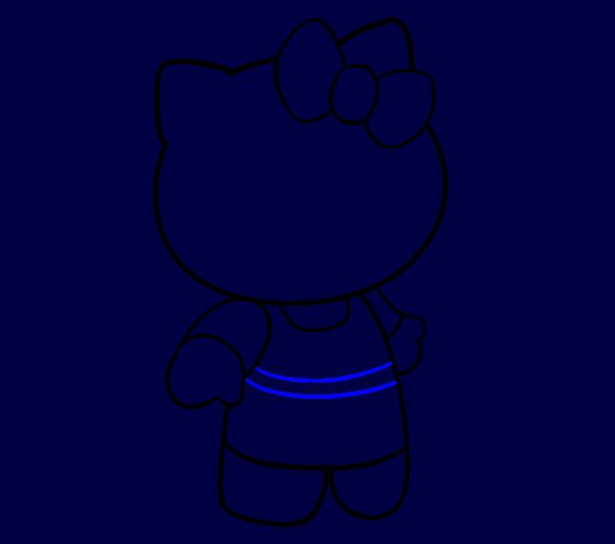 Hello Kitty как нарисовать 13