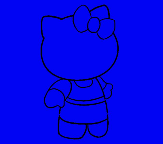Hello Kitty как нарисовать 14